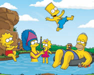 Puzzle of the simpsons on vacation online