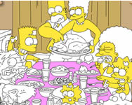 Simpsons thanksgiving party