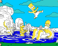 Vacationing Simpsons online